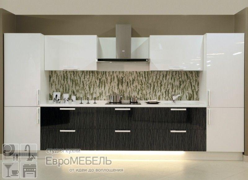 черно белая кухня стильная мебель превосходного качества