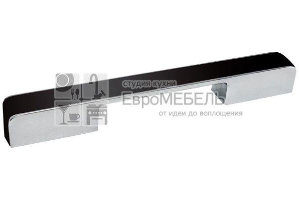 217.579-20119603 Ручка-скоба 160-224мм, отделка хром глянец + чёрный пластик