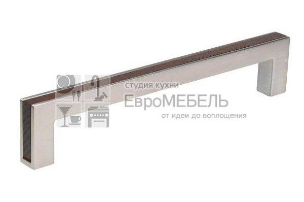 517760160-66053948 Ручка-скоба FRAME 160мм, отделка венге + сталь нержавеющая