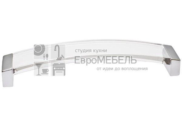 8.1062.0224.45-93 Ручка-скоба 224мм, отделка хром матовый + транспарент прозрачный