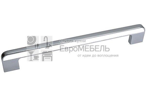 CH0103-192.PCWH Ручка-скоба 192мм, отделка хром глянец + белый