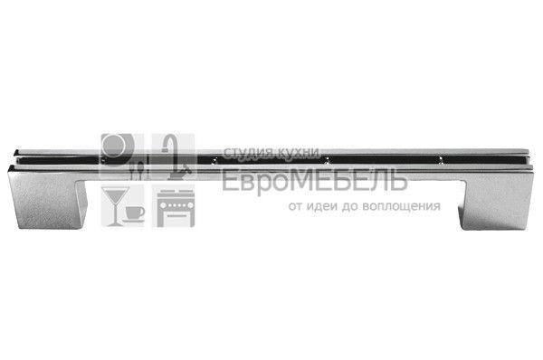 CH0200-160192.PC Ручка-скоба 160-192 мм, отделка хром глянец, под вставку