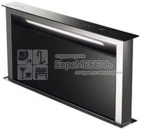 KDD90VX Вытяжка, встраиваемая в столешницу, 90 см, нержавеющая сталь, черное стекло
