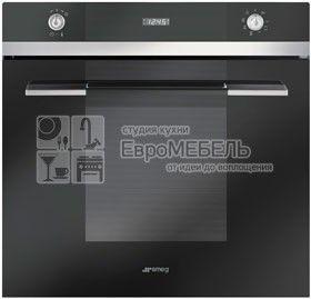 SF106N духовой шкаф, 60 см, 8 функций, черное стекло