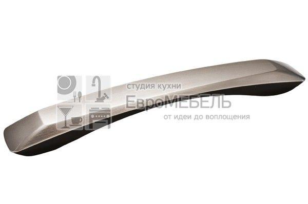 217.661-20119605 Ручка-скоба 192мм, отделка нержавеющая сталь + чёрный пластик