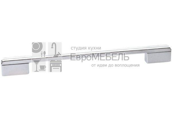 8.1092.224192.40-70 Ручка-скоба 224-192мм, отделка хром глянец + белый глянец