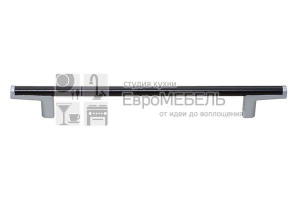 8.1121.0192.42-1894 Ручка-скоба 192мм, отделка хром матовый лакированный + венге